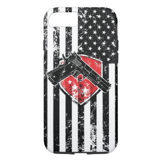 Gewehr-Rechte beunruhigten amerikanische Flagge iPhone 8/7 Hülle