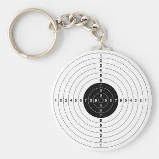 Gewehr-Schießstand-Stieraugen-Zielsymbol Schlüsselanhänger