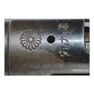 Gewehr-Spitzenempfänger-Druck Arisaka Modell-99 Fotodruck