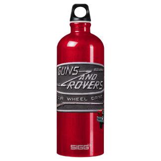 Gewehr-und Vagabund-Rot Rover Aluminiumwasserflasche