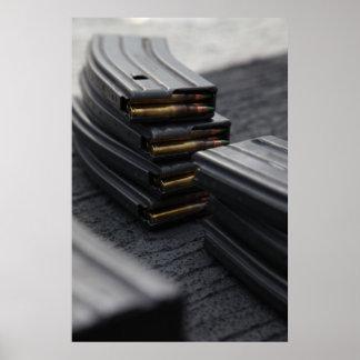Gewehr-Zeitschriften Plakatdruck