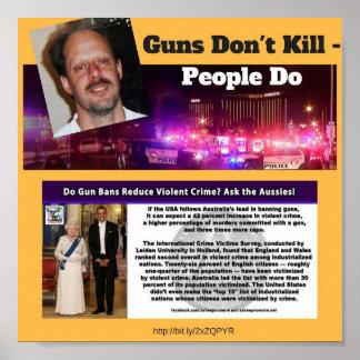 Gewehre töten nicht - Leute tun PLAKAT