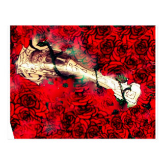 Gewehre und Rosen Postkarte