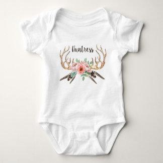 Geweih-Blumenbaby-Ausstattung Baby Strampler