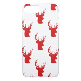 Geweih-rotes Feiertags-Muster des Ren-  des iPhone 8/7 Hülle