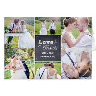 Geweißte Collagen-Hochzeit danken Ihnen zu kardier Mitteilungskarte
