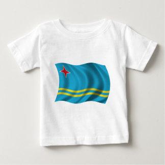 Gewellte Aruba-Flagge Baby T-shirt