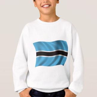 Gewellte Botswana-Flagge Sweatshirt