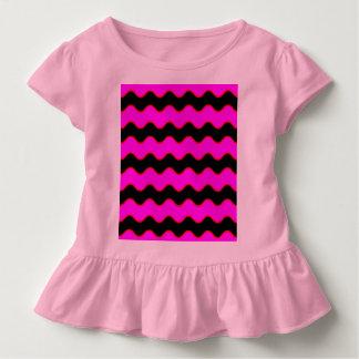 Gewellte Zickzack Zickzack-Streifen Kleinkind T-shirt
