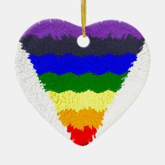 Gewellter Block-Faser-Regenbogen-Dreieck-Trichter Keramik Ornament