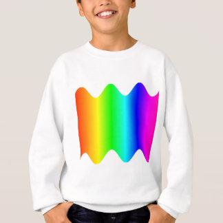 Gewellter Regenbogen Sweatshirt
