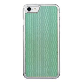 Gewellter vertikale Streifen-TürkisAquamarine Carved iPhone 7 Hülle