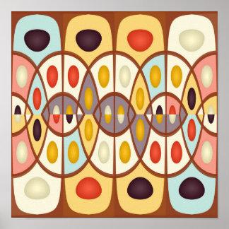 Gewelltes geometrisches abstraktes poster