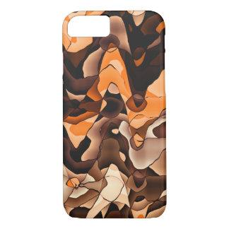 Gewelltes Orange und braun iPhone 8/7 Hülle