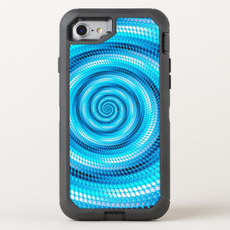 Gewelltes psychedelisches Muster OtterBox Defender iPhone 8/7 Hülle