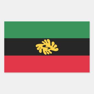Gewerkschaft des afrikanischen Staats-Aufklebers Rechteckiger Aufkleber