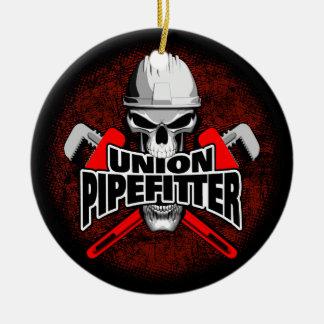 Gewerkschaft Pipefitter Schädel Keramik Ornament