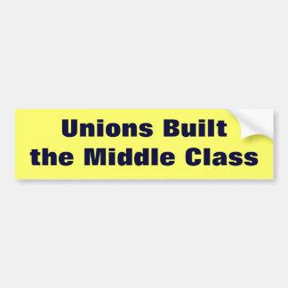 Gewerkschaften errichteten die mittlere Klasse Autoaufkleber