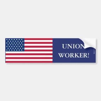 Gewerkschafts-Arbeitskraft-Autoaufkleber Autoaufkleber