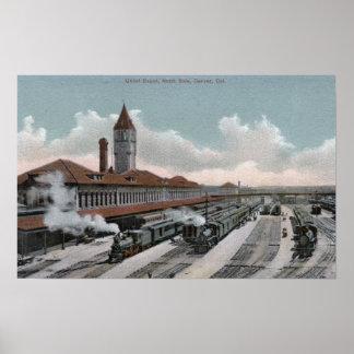 Gewerkschafts-Depot-Eisenbahn-Nordseite Poster