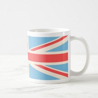 Gewerkschafts-Flagge/Jack-Entwurfs-Creme, hellblau Kaffeetasse