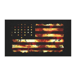 Gewerkschafts-Flagge, ziviler Krieg, Sterne u. Str Leinwand Druck