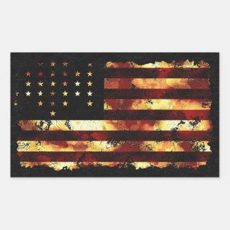 Gewerkschafts-Flagge, ziviler Krieg, US Flagge, Rechteckige Sticker