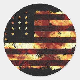 Gewerkschafts-Flagge, ziviler Krieg, US Flagge, Runder Sticker