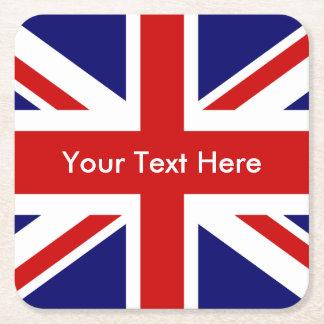 Gewerkschafts-Jack-Briten-Flagge Rechteckiger Pappuntersetzer