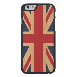 Gewerkschafts-Jack-britische nationale Flagge Carved® iPhone 6 Hülle Ahorn