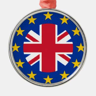 Gewerkschafts-Jack E. - europäische Silbernes Ornament