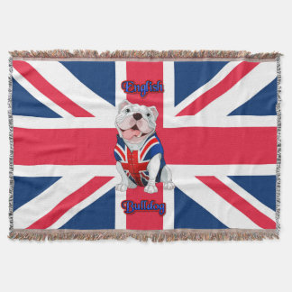 Gewerkschafts-Jack-Englisch-Bulldogge Decke