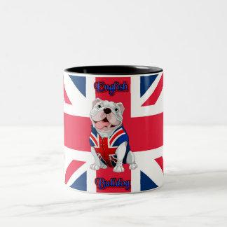Gewerkschafts-Jack-Englisch-Bulldogge Zweifarbige Tasse