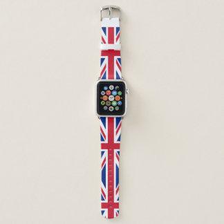 Gewerkschafts-Jack-englische Flaggen-britische Apple Watch Armband