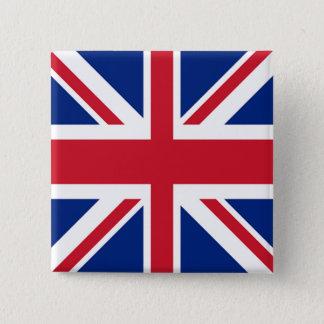 Gewerkschafts-Jack - Flagge des Vereinigten Quadratischer Button 5,1 Cm