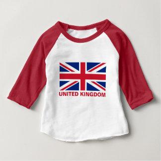 Gewerkschafts-Jack-Königreich-Flaggen-Rot-Text Baby T-shirt