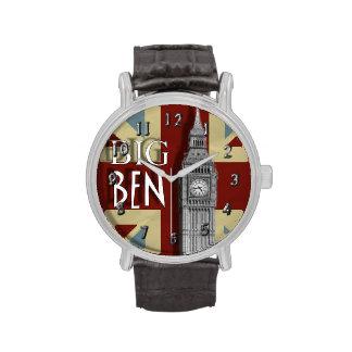 Gewerkschafts-Jack-Thema Big Ben London Uhr