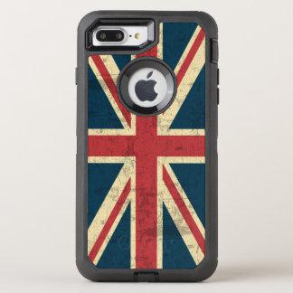 Gewerkschafts-Jack-Vintage britische Flagge OtterBox Defender iPhone 8 Plus/7 Plus Hülle