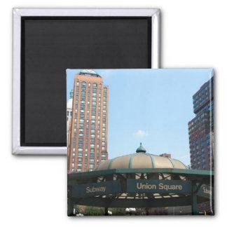 Gewerkschafts-quadratische Untergrundbahn NYC Magnets
