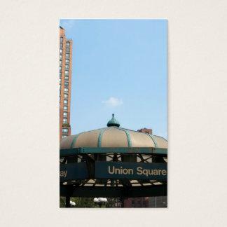 Gewerkschafts-quadratische Untergrundbahn NYC Visitenkarten