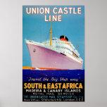 Gewerkschafts-Schloss ~ die große Schiffs-Weise Plakatdruck