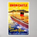 Gewerkschafts-Schloss nach Südafrika Plakatdruck