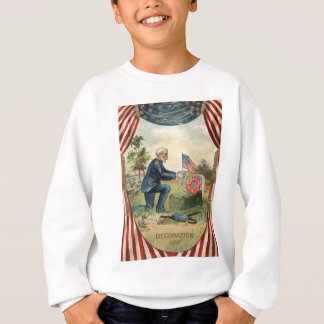 Gewerkschafts-Soldat-Grabstein-Friedhof US-Flagge Sweatshirt