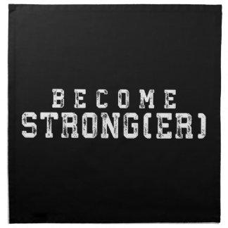 Gewichts-Anhebeninspiration - stärker geworden - Stoffserviette