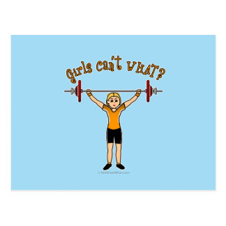 Gewichts-Heber (blond) Postkarte