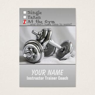 Gewichts-Training - Geschäfts-/Zeitplan-Karte Visitenkarte