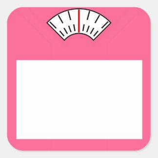 Gewichts-Verlust-Verfolger Aufkleber-Fitness Quadratischer Aufkleber
