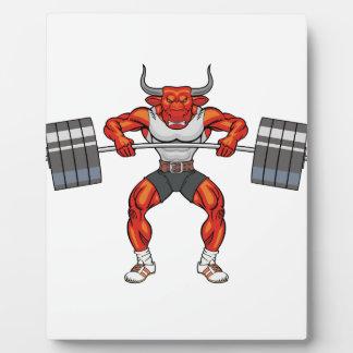 Gewichtsanhebenstier 2 fotoplatte