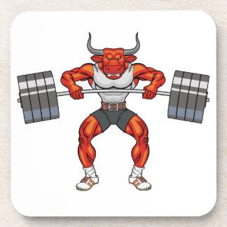Gewichtsanhebenstier 2 untersetzer