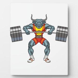 Gewichtsanhebenstier 3 fotoplatte